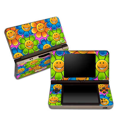 DSi XL Skin - Happy Daisies