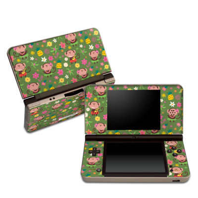 DSi XL Skin - Hula Monkeys