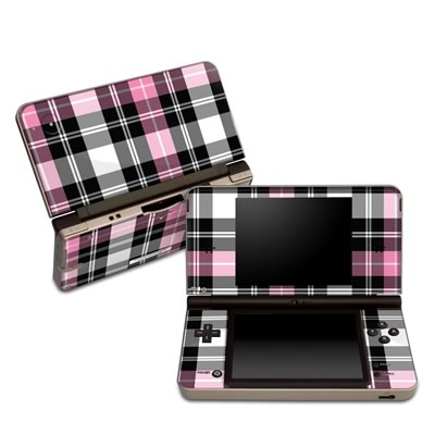 DSi XL Skin - Pink Plaid