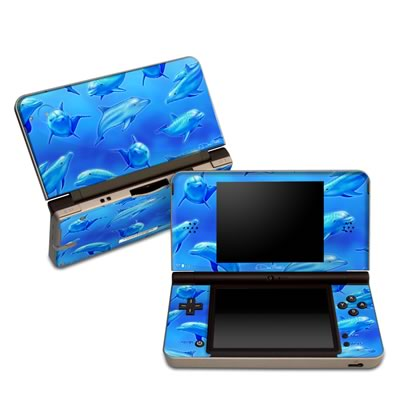 DSi XL Skin - Swimming Dolphins