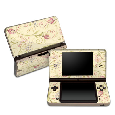 DSi XL Skin - Tulip Scroll