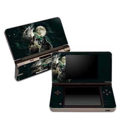 DSi XL Skin - Three Wolf Moon