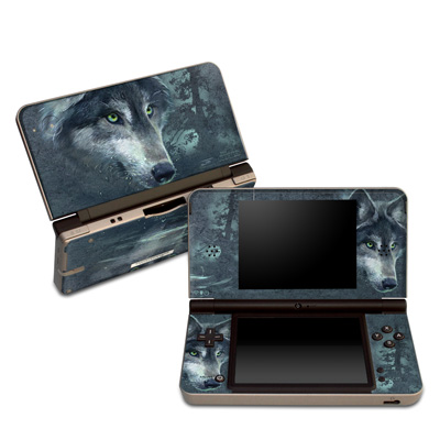 DSi XL Skin - Wolf Reflection
