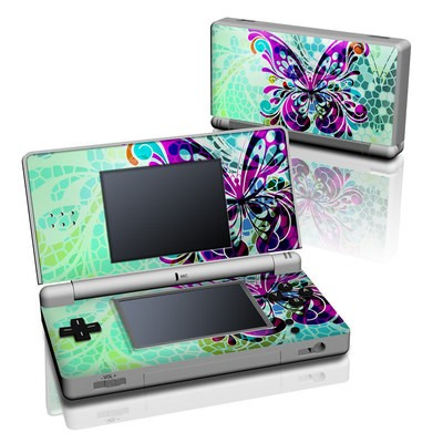 DS Lite Skin - Butterfly Glass