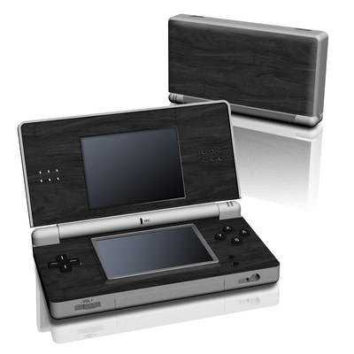 DS Lite Skin - Black Woodgrain
