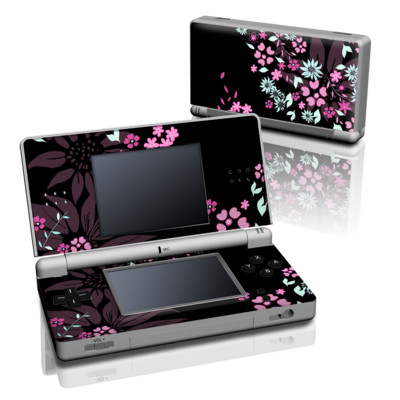 DS Lite Skin - Dark Flowers