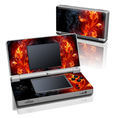 DS Lite Skin - Flower Of Fire