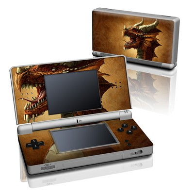 DS Lite Skin - Red Dragon