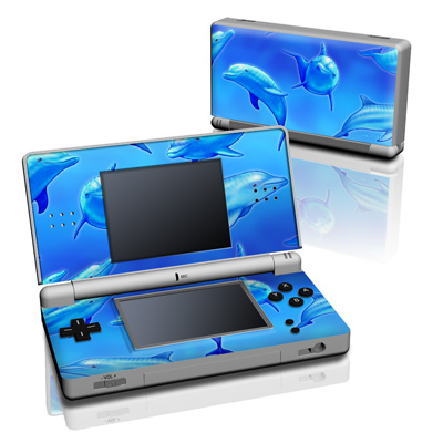 DS Lite Skin - Swimming Dolphins