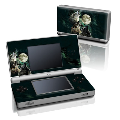 DS Lite Skin - Three Wolf Moon