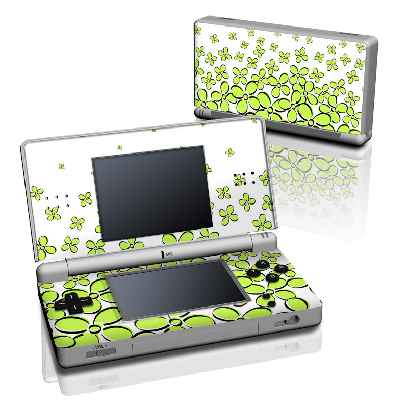ds lite skin daisy field green decalgirl. Black Bedroom Furniture Sets. Home Design Ideas