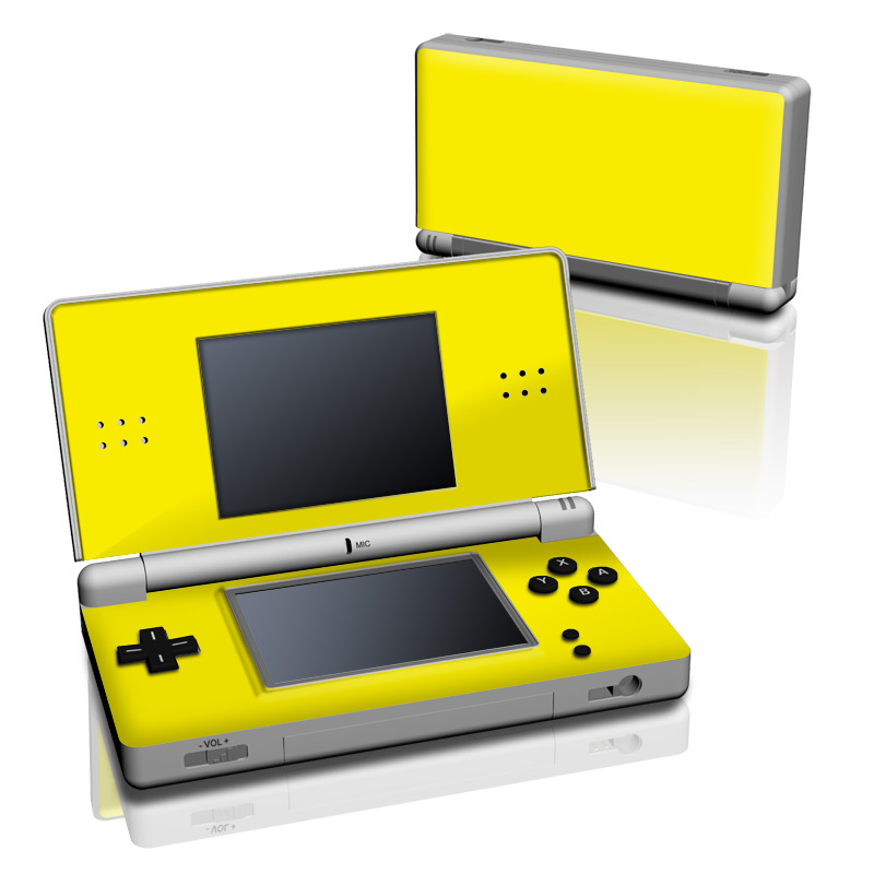 Home Skins Game Consoles Nintendo Nintendo DS Lite Solid State Yellow