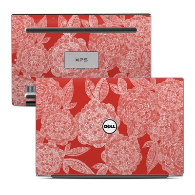 Dell XPS 13 Laptop Skin - Red Dahlias