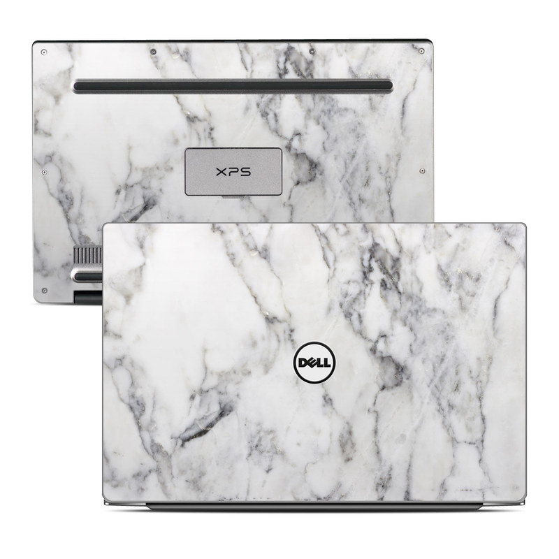Dell Xps 13 9343 Skin White Marble By Marble
