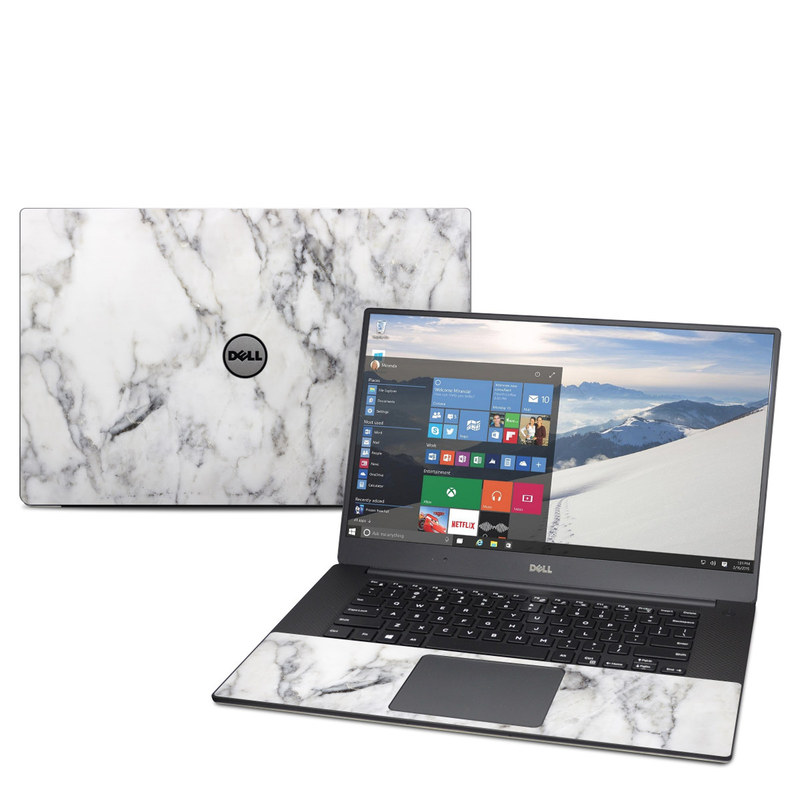 Dell Xps 15 9560 Skin White Marble By Marble