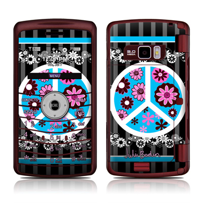 LG enV3 Skin - Peace Flowers Black
