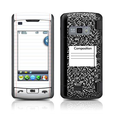 LG enV Touch Skin - Composition Notebook