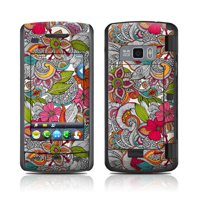 LG enV Touch Skin - Doodles Color