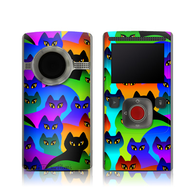 Flip Ultra HD Skin - Rainbow Cats