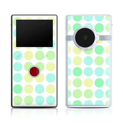 Flip Mino HD 120 Skin - Big Dots Mint