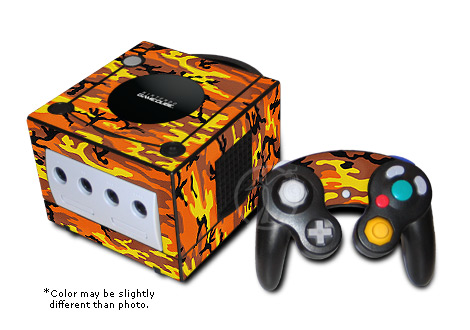 GameCube Skin - Orange Camo