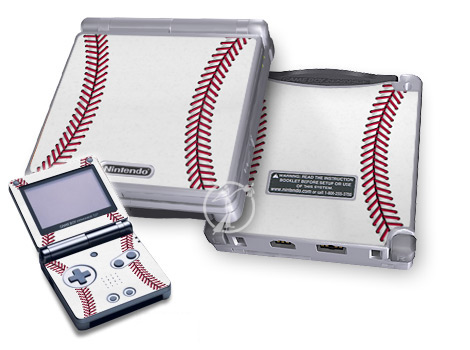 Gameboy SP Skin - Baseball