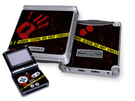 Gameboy SP Skin - Crime Scene