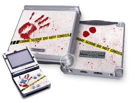 Gameboy SP Skin - Crime Scene Revisited