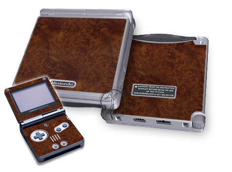 Gameboy SP Skin - Dark Burlwood
