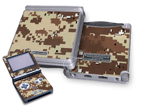 Gameboy SP Skin - Digital Desert Camo
