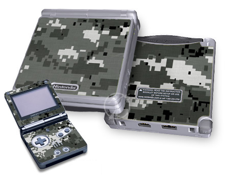 Gameboy SP Skin - Digital Urban Camo