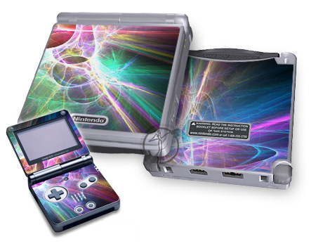 Gameboy SP Skin - Static Discharge
