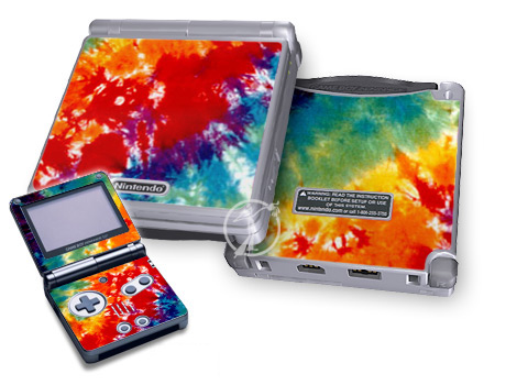 Gameboy SP Skin - Tie Dyed