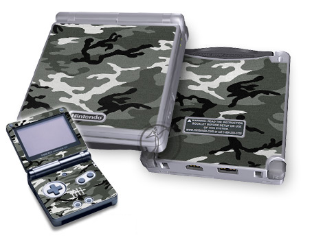 Gameboy SP Skin - Urban Camo