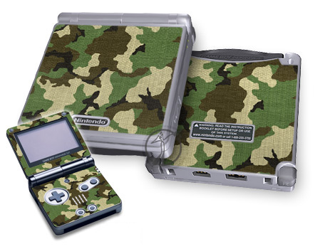 Gameboy SP Skin - Woodland Camo