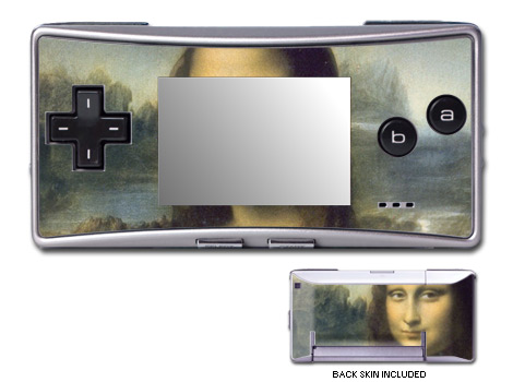 GameBoy Micro Skin - Mona Lisa