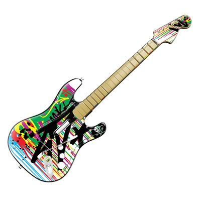Guitar Hero Fender Skin - Colour Rain