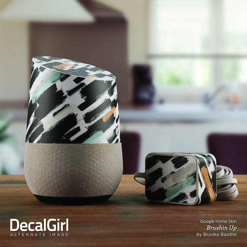 google home skin rosa marble by marble collection decalgirl