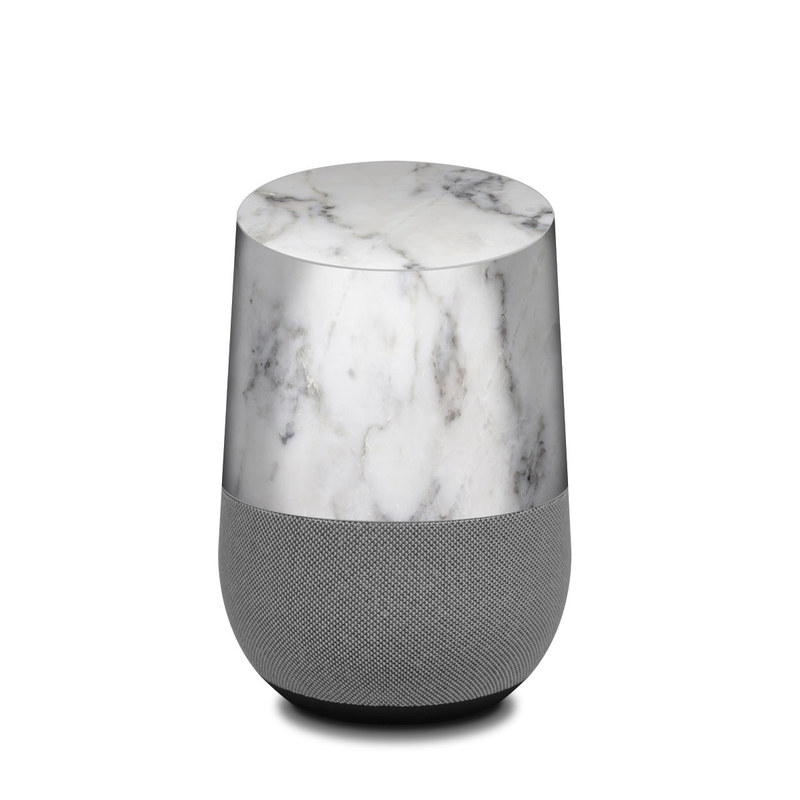 google home skin white marble by marble collection decalgirl