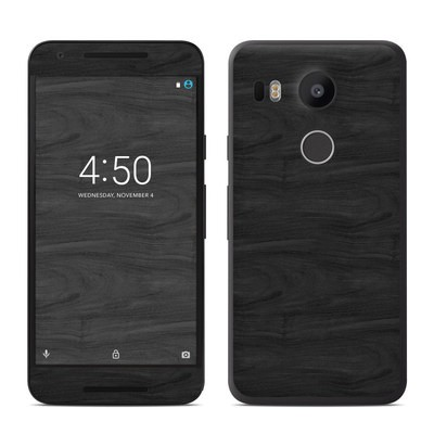 Google Nexus 5X Skin - Black Woodgrain