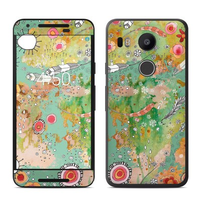 Google Nexus 5X Skin - Feathers Flowers Showers