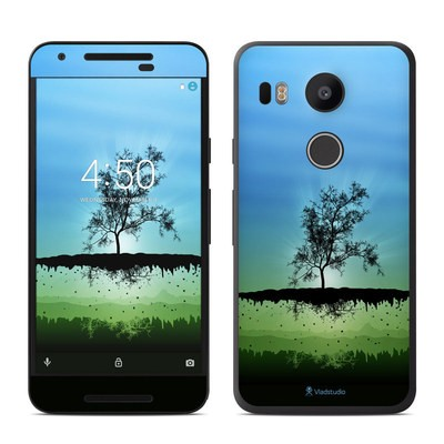 Google Nexus 5X Skin - Flying Tree Blue