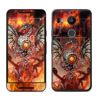 Google Nexus 5X Skin - Furnace Dragon