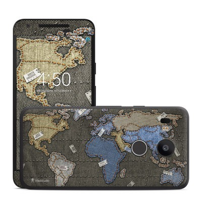 Google Nexus 5X Skin - Jean Map