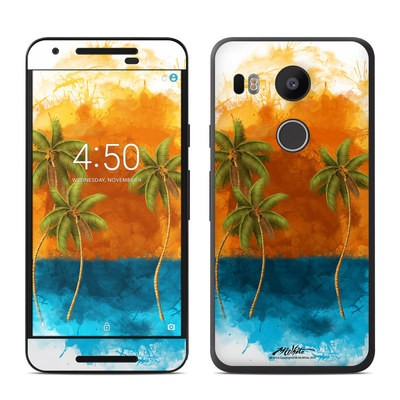 Google Nexus 5X Skin - Palm Trio