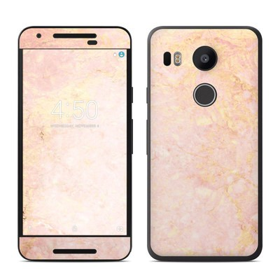 Google Nexus 5X Skin - Rose Gold Marble