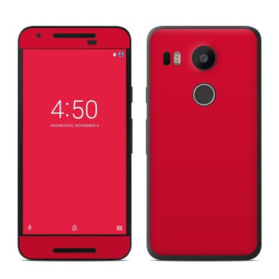 Google Nexus 5X Skin - Solid State Red