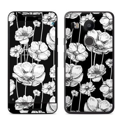 Google Nexus 5X Skin - Striped Blooms
