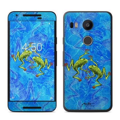 Google Nexus 5X Skin - Tiger Frogs