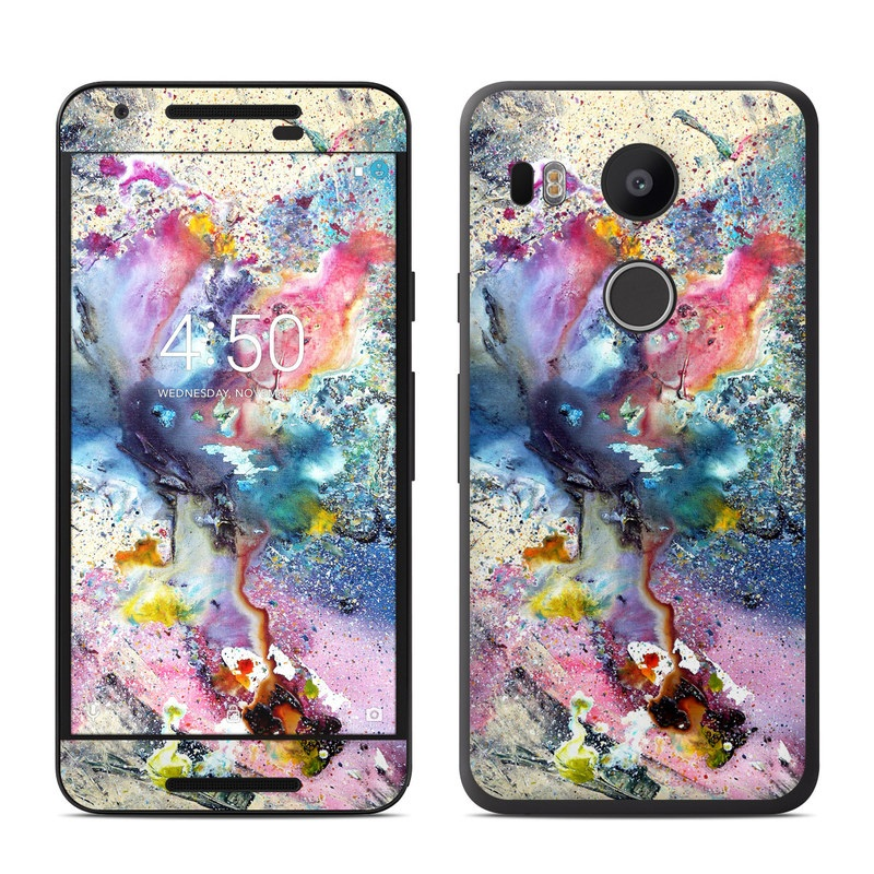 nexus 5 skin template - google nexus 5x skin cosmic flower by creative by nature